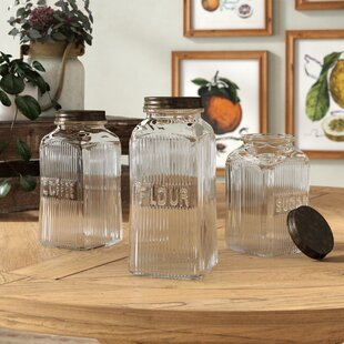 weston 3 piece kitchen canister set - Kitchen Canister Sets