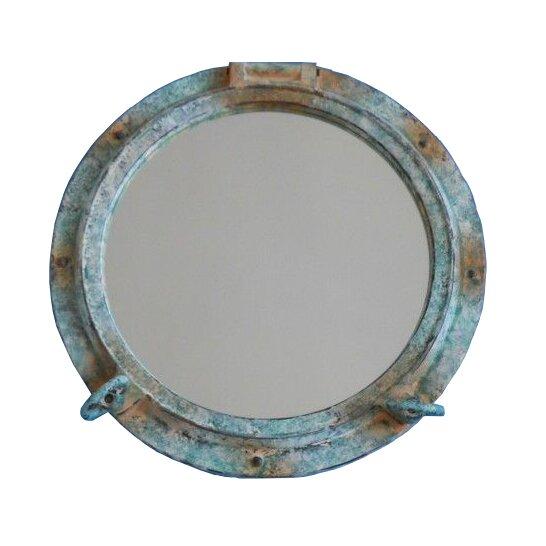 Turquoise Wall Mirror handcrafted nautical decor titanic shipwrecked decorative porthole