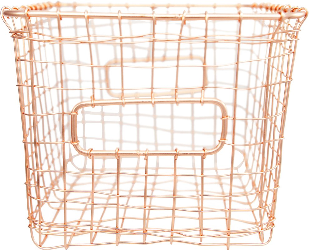 Wire Basket With Liner | Wayfair