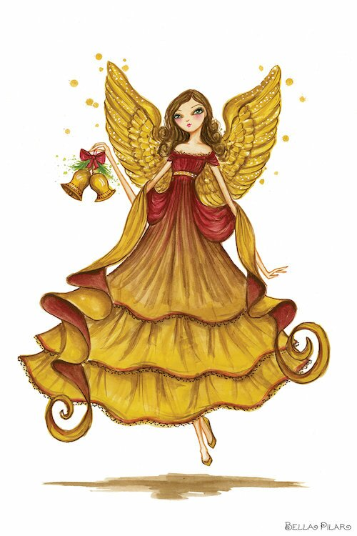 East Urban Home Holiday Series Angel Painting Print On Wrapped Canvas Wayfair