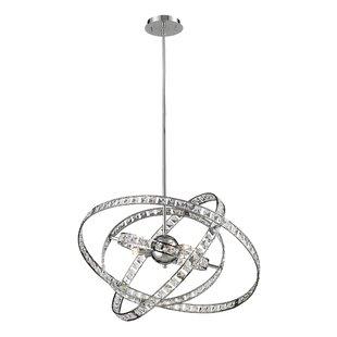 Orren Ellis Cervantes 6-Light Geometric Chandelier