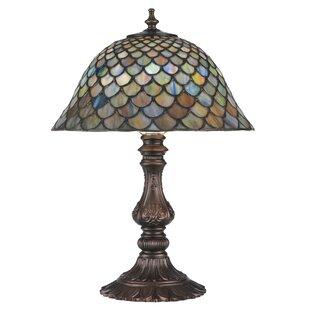 Meyda tiffany table lamps youll love wayfair fishscale 17 table lamp by meyda tiffany aloadofball Choice Image
