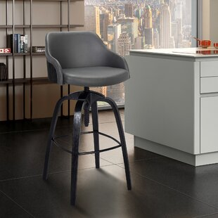 Buy luxury Fasano Adjustable Height Bar Stool by George Oliver Reviews (2019) & Buyer's Guide
