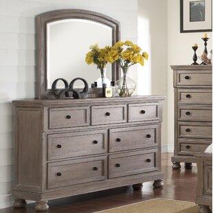August Grove Gabriele 5 Drawer Dresser with Mirror