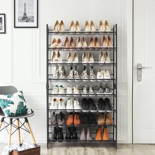 32 Pair Stackable Shoe Rack (Set Of 2) By Rebrilliant