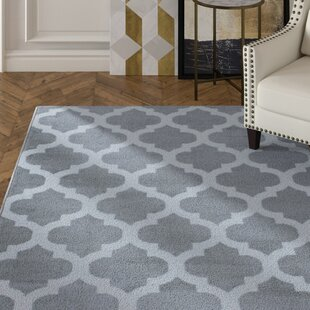 Great choice Newlon Trellis Gray/White Area Rug By House of Hampton
