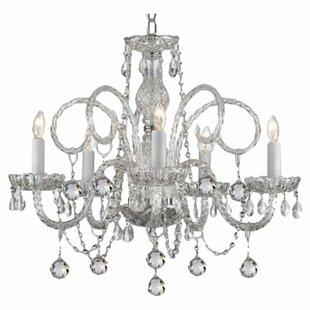 House of Hampton Joubert 5-Light Candle Style Chandelier