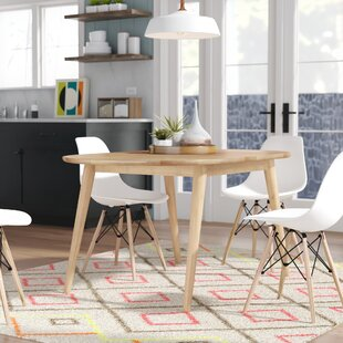 Castaneda Mid-Cenutry Modern Solid Wood Dining Table