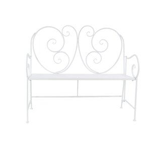 Cedarvale Traditional Scroll Patio Iron Garden Bench