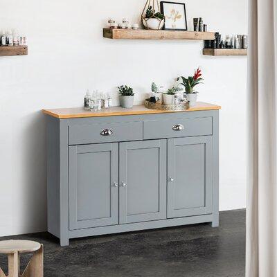 "August Grove Kalil 44.1"" Wide 2 Drawer Sideboard  Color: Grey"