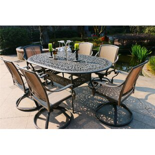 Baltz Aluminum 7 Piece Dining Set by Canora Grey