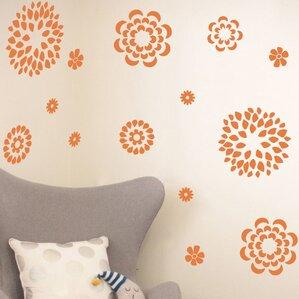Flower Pattern Wall Decal Set