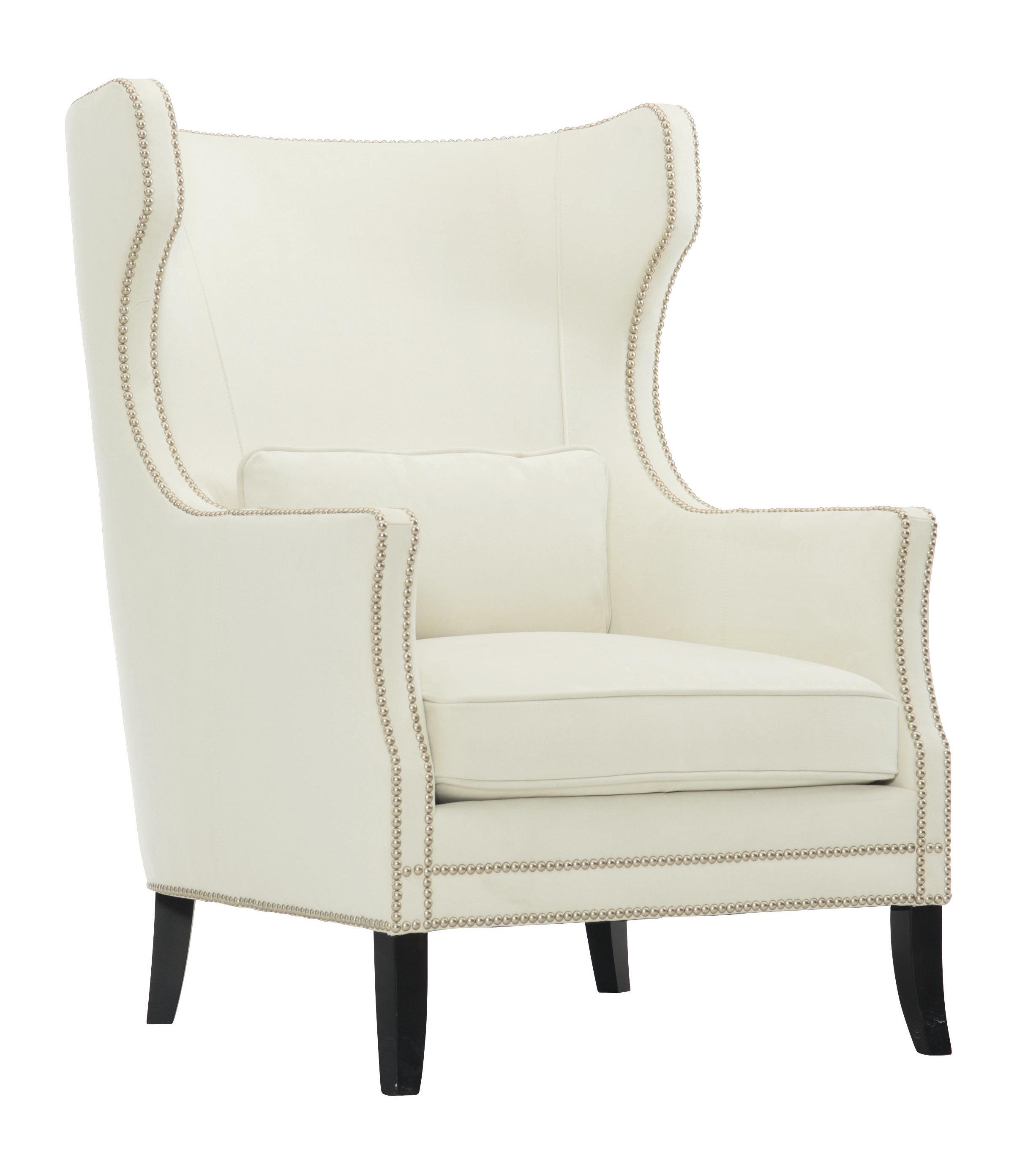 Excellent Kingston Leather Wingback Chair Machost Co Dining Chair Design Ideas Machostcouk