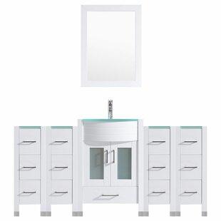Peterman Modern 72 Single Bathroom Vanity Set with Mirror by Orren Ellis