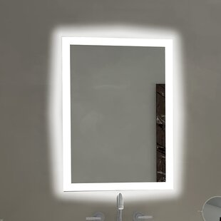 Buy luxury Rectangle Backlit Bathroom / Vanity Wall Mirror By Paris Mirror