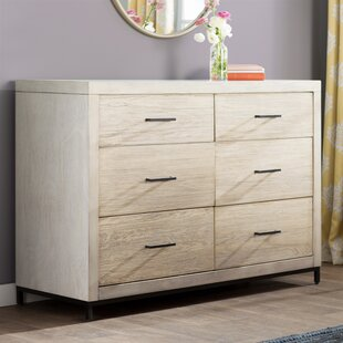 Bungalow Rose Lavenia 6 Drawer Double Dresser
