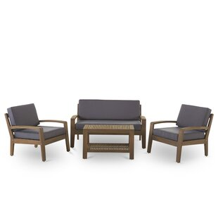 Berkley 4 Piece Sofa Set with Cushions