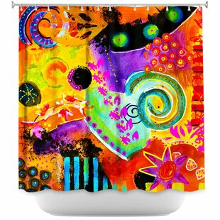 Crazy Abstract I Single Shower Curtain