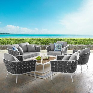 Collinsville Stance Outdoor 6 Piece Rattan Sofa Seating Group Set