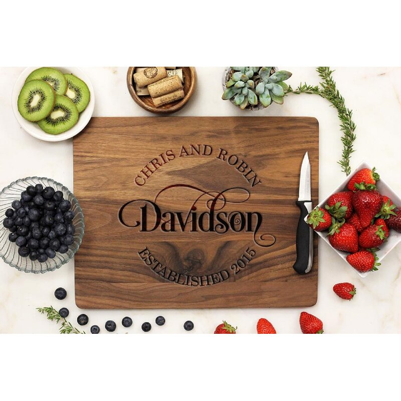 Stamp Out Inc Bamboo Personalized Cutting Board Wayfair