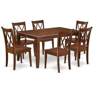 Konieczny 7 Piece Solid Wood Dining Set