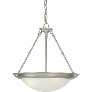 Charlton Home Davis 3-Light Bowl Pendant