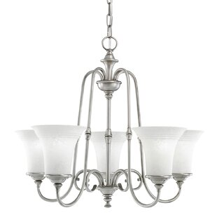 Charlton Home Camille 5-Light Shaded Chandelier