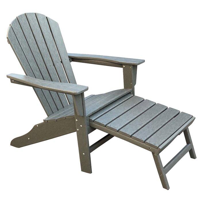 Plastic Adirondack Chairs With Ottoman.Corinne Patio Plastic Adirondack Chair With Ottoman