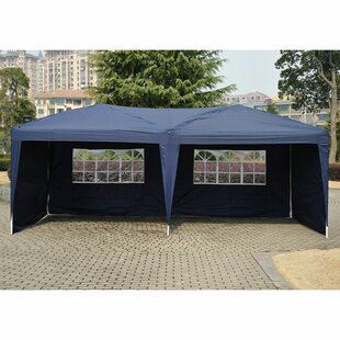 Outsunny 10 Ft. W x 20 Ft. D Steel Pop Up Party Tent