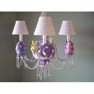 Silly Bear Lighting Snappy Snails 3-Light Shaded Chandelier
