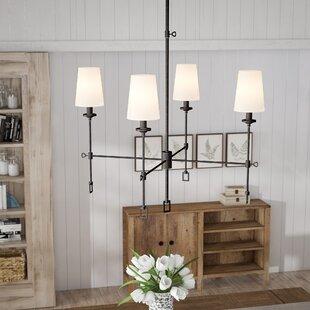 Laurel Foundry Modern Farmhouse Jaune 4-Light Shaded Chandelier