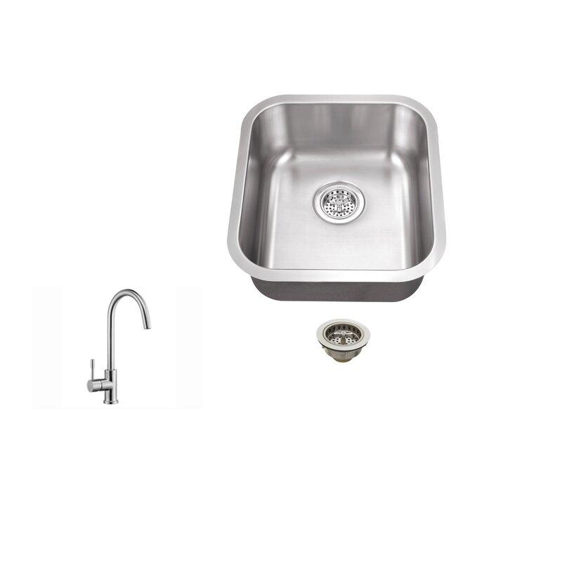 Soleil 1613 L X 18 W Undermount Bar Sink With Faucet Reviews