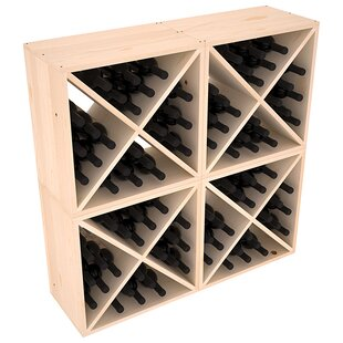 Karnes Pine X-Cube 96 Bottle Floor Wine Rack by Red Barrel Studio