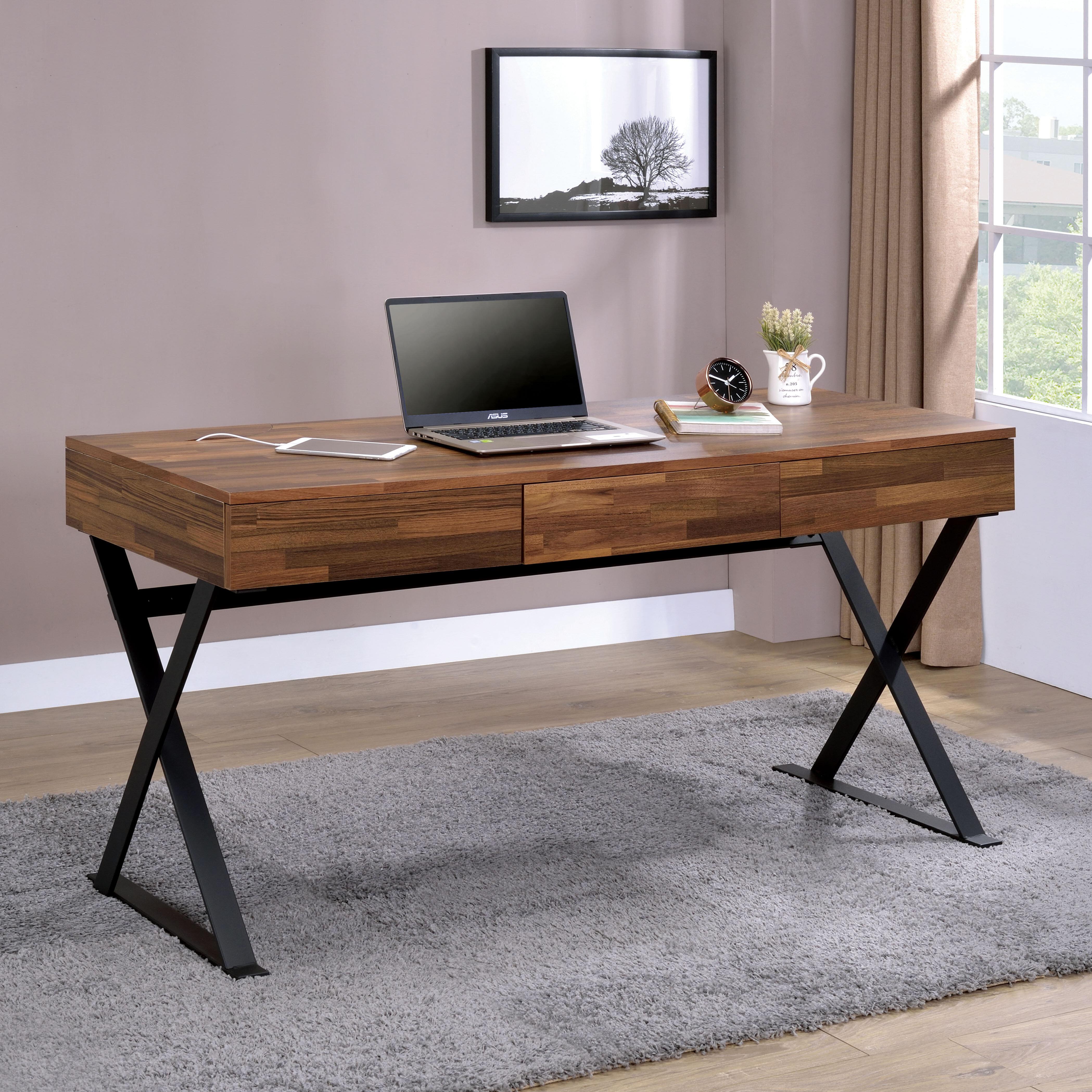 Williston Forge Bodnar 3 Drawer Computer Desk & Reviews | Wayfair