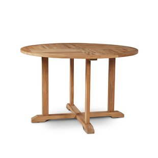 Kauffman Folding Teak Dining Table by Rosecliff Heights Design