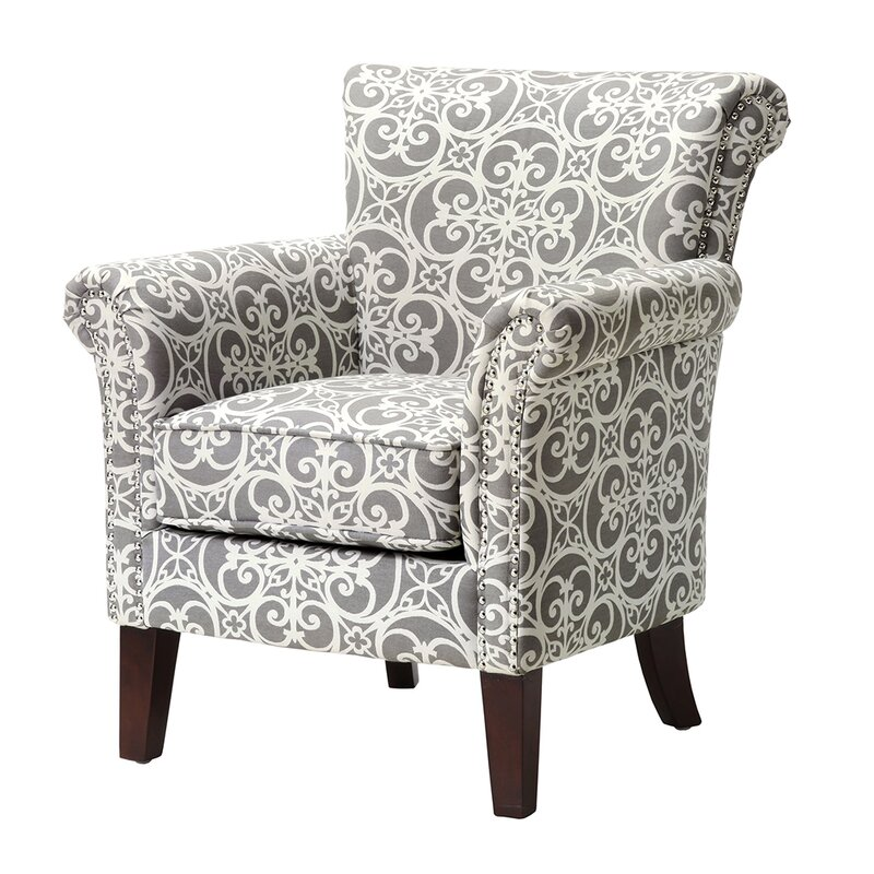 Relatively Alcott Hill Olson Accent Club Chair with Arms Upholstered Silver  VT62