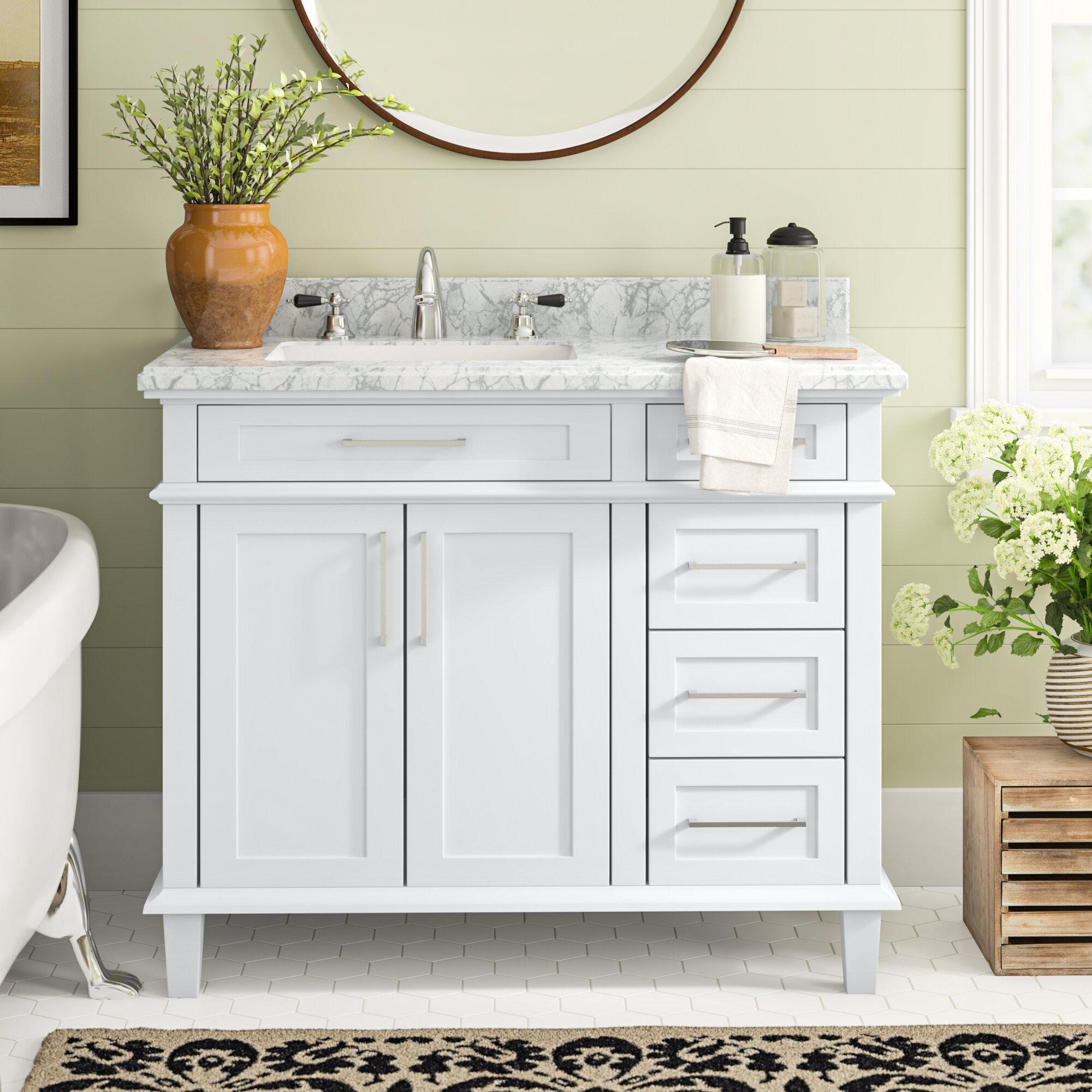 42 Inch White Bathroom Vanities You Ll Love In 2021 Wayfair
