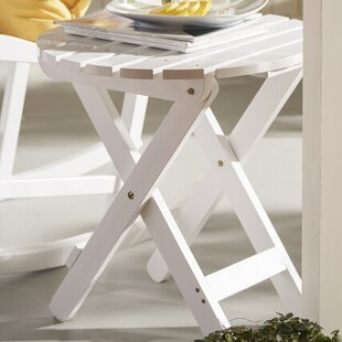 Mallory Folding Wood Side Table by August Grove