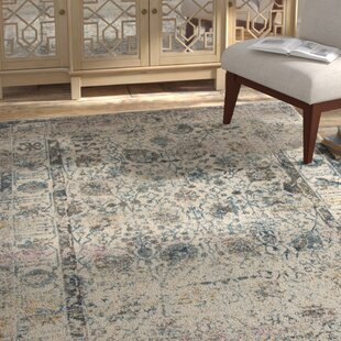 Savings Palmore Ivory/Blue Area Rug By Bungalow Rose
