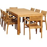 Brighton 9 Piece Teak Dining Set
