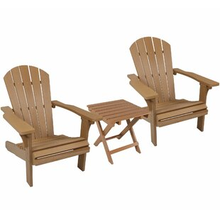 Saldana All-Weather Plastic Adirondack Chair With Table By Loon Peak