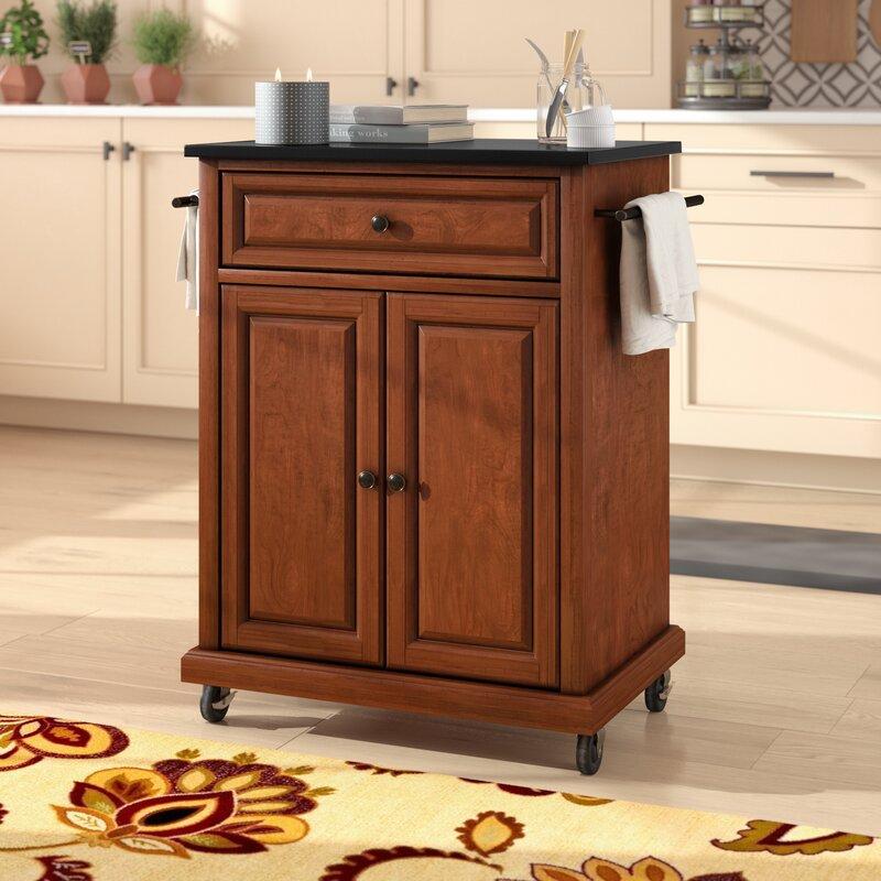 Celeste Kitchen Cart With Granite Top