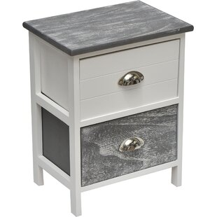 2 Drawer Nightstand by Evideco Modern