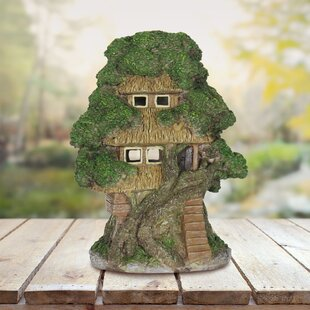Solar Roof Tree House Statue by Exhart