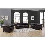Batchelor 3 Piece Leather Living Room Set by Alcott Hill
