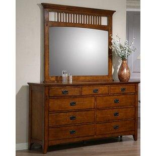 Loon Peak Elgin 9 Drawer Dresser with Mirror