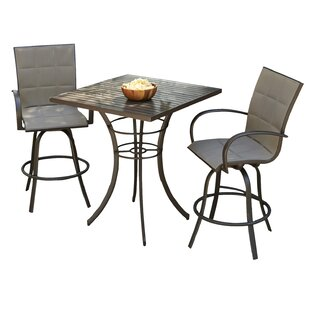 Empire 3 Piece Bar Height Dining Set