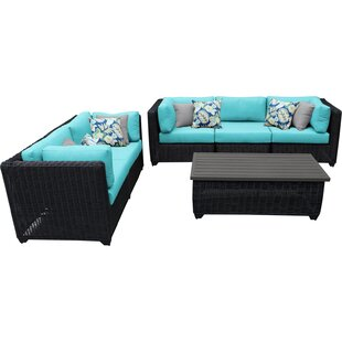 Fairfield 6 Piece Sofa Seating Group With Cushions by Sol 72 Outdoor Bargain