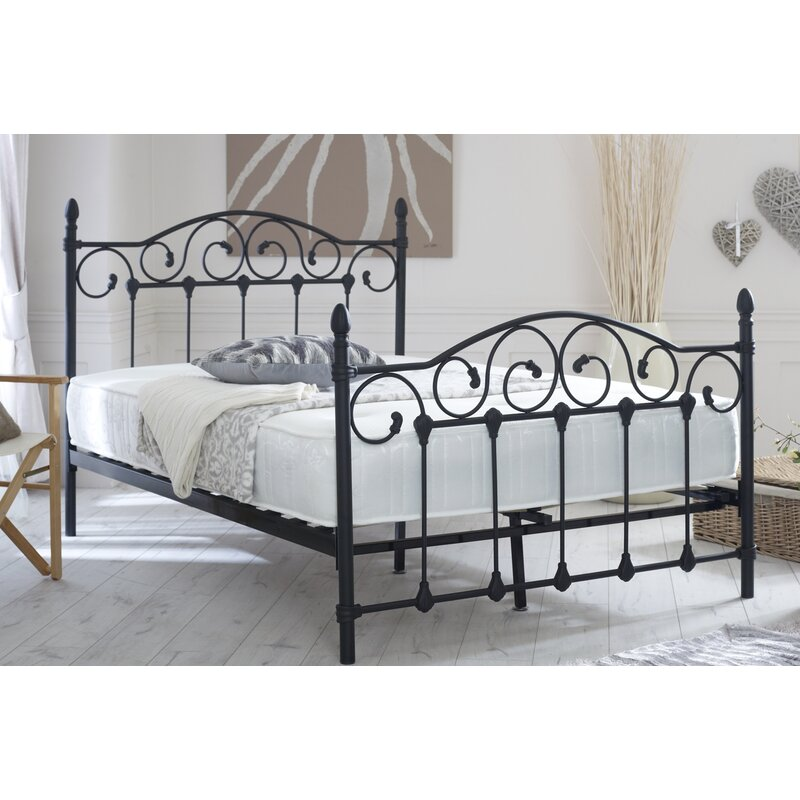 Home & Haus Seville Ornate Scrolled Metal Double Bed Frame & Reviews ...