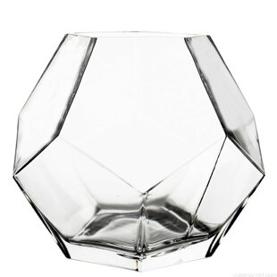 Geometric Faceted Gem Glass Table Vase
